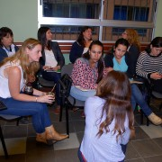 Patient navigators attend a training in Uruguay