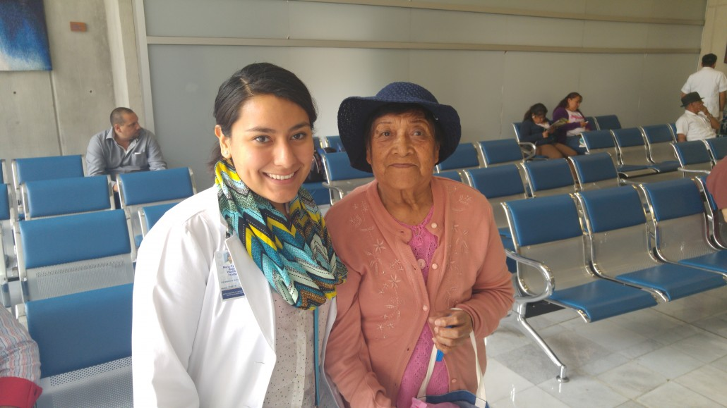 Juana with Paty, the patient navigation project coordinator